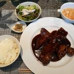 86257423 - 限定10食!特製黒酢と葡萄の酢豚ランチ、税込み1,800円