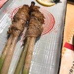 炉ばた焼 いろり - 葉生姜の肉巻き