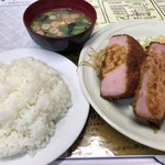 レストランばーく - ハムカツ定食
