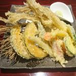 せり草庵 - 根せりと夏野菜の天ぷら