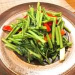 中華銘菜 慶 - 通菜蝦醤。これは見事!
