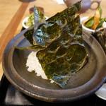 茉莉花 - 焼き海苔のせ炊きたてご飯