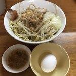 もみじ屋 - 料理写真:【2018.5.21】ラーメン¥800+生卵¥50の食券を購入。提出時に「汁なし」コール。