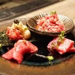 USHIGORO S Nishiazabu - ☆生肉盛合せ