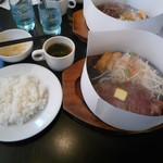 肉のはせ川 - サーロインステーキ140g、サラダセット税込1458円