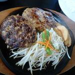 肉のはせ川 - ハンバーグ、360g、サラダセット税込1382円