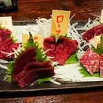 桜肉専門 うままる - 料理写真:桜肉刺身5種盛