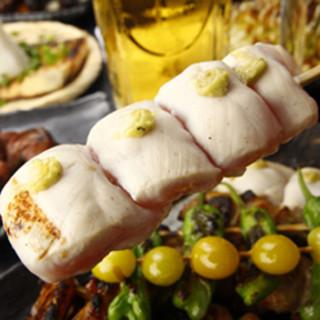 鶏は山梨県産の朝〆健味鶏使用!