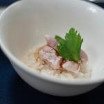 食事 太華 - 雉笹身肉(きじさゝみにく)+糯米强飯(もちごめこはいひ)