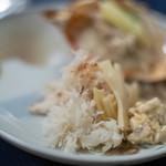 食事 太華 - 棘栗蟹(とげくりがに)+笋(たけのこ)