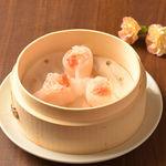 逸品飲茶縁茗 - カニとエビの蒸し餃子