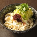 逸品飲茶縁茗 - 食べる辣油刀削麺