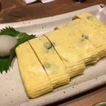 蕎麦 AKEBONOYA - だし巻きX青唐辛子