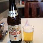 食道園 - 瓶ビール(650円)