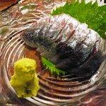 大阪海鮮居酒屋 わけあり水産 難波市場 - アジのお造り