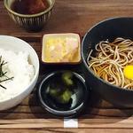 山芋の多い料理店 - 山芋の多い料理店 @西葛西 ランチ 冷たいぶっかけ山芋そばとちびとろろめし 税込680円