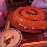 阪急トップ ビアガーデン - 渦巻きドッグのスモーク
