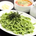塩つけ麺(ほうれん草入り翡翠麺) 普通盛り(200g)