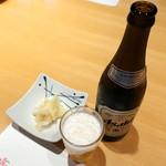 寿司栄 華やぎ - 瓶ビール 650円
