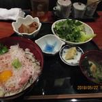 旬彩和酒 撰 - 「ねぎとろ丼定食 850円」