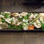 雑多居酒屋 しののめ - 季節野菜の温野菜サラダアンチョビクリーム