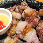 とりあえず吾平 - 豚アゴ肉のステーキ504円