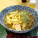 海幸山幸 越中茶屋 - 白海老天婦羅そば930円