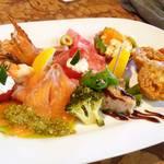 レストラン サカミティー - 前菜の盛り合わせ
