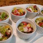 レストラン サカミティー - タコと彩野菜のココットサラダ