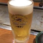 福太郎 - キリン一番搾り 中ジョッキ 540円