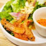 タブレスクック&ジョナサンズ ブックストア - チキンと水菜のハリハリフォー