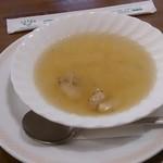 サラダの店サンチョ - ホタテ貝のスープ