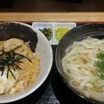 えびすやうどん - 丸丼+ミニうどんセット(大盛)