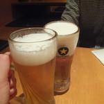 まんたろー - ビールで乾杯(2018.4.22)