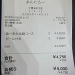 まんたろー - レシート(2018.4.22)