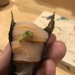 旬美にしかわ - イカと雲丹の海苔巻き