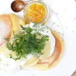 【期間限定】3種のシトラスヨーグルトパンケーキ