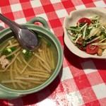 コピーピー - ランチセットのサラダとスープ