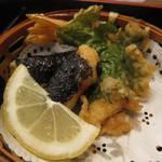 正起屋 - 天ぷら(海老&大葉、山芋の磯辺揚げ)