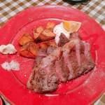 グッドミート・バル - 三元豚肩ロースのプランチャ 赤インゲン豆と香味野菜のソース  950円