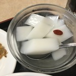 謝朋酒樓 - ランチセットの杏仁豆腐