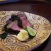 料理どころ 翠笑 - 料理写真:焼き物仙台牛ローストビーフスダチ若布大根おろし