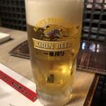 炭火焼肉 いっとく - 生ビール