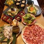武蔵 - 山口ブランド!鹿野豚の焼肉コース。2500円