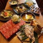 武蔵 - 焼津産かつおと日高昆布出汁で食べる牛タンしゃぶしゃぶコース2500円