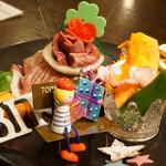焼肉問屋 飛騨牛専門店 焼肉ジン - 肉ケーキ!