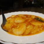 清香園 - 芝海老のチリソース煮