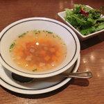 ステーキ くに - NEW!!2011.07 スープとサラダ(日替わりのセット)