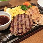 ステーキ くに - NEW!!2011.07 日替わりランチ ハンバーグ&豚のしょうがやき