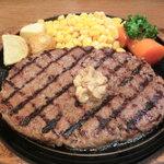 ステーキ くに - NEW!!2011.07 ジャンボ!くに100%ビーフハンバーグステーキ300g 1050円